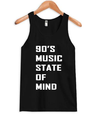 90s music state of mind tank top