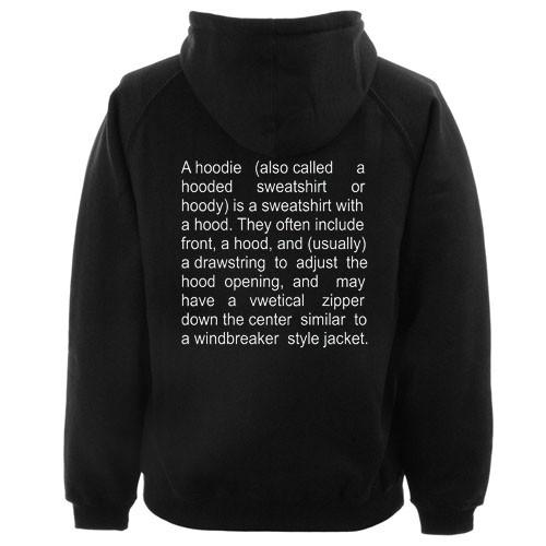 A Hoodie Description Hoodie Back