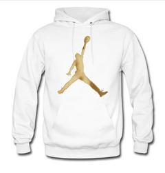 Air jordan 12 white and gold hoodie