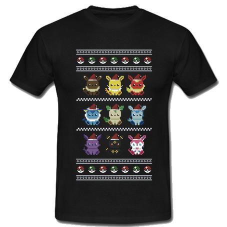 An Eeveelutionary Ugly Christmas Pokemon T-shirt