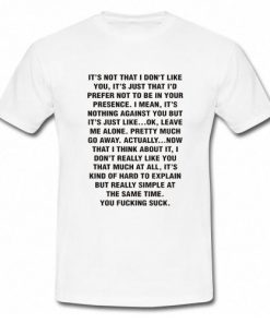 Andrea Russet It's Not That I Don't Like You T-Shirt