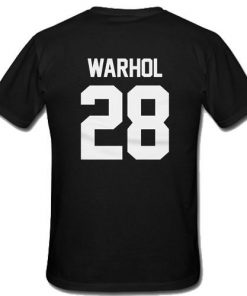 Andy Warhol 28 T-Shirt Back