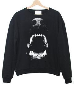 Angry Dog Teeth Sweatshirt