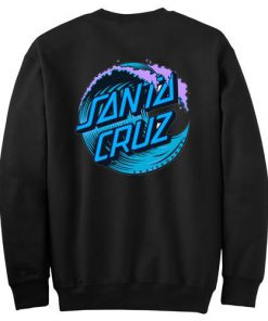 Blue Santa Cruz Wave Logo Sweatshirt Back