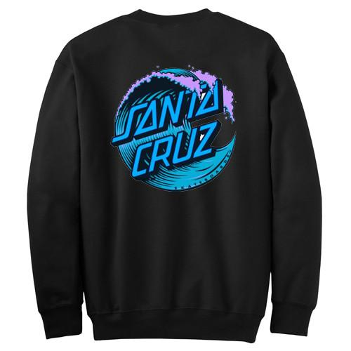 Blue Santa Cruz Wave Logo Sweatshirt Back