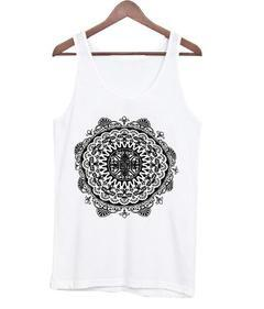 Bonnie Ethnic Print Halter Tie tank top