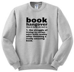 Book Hangover sweatshirt