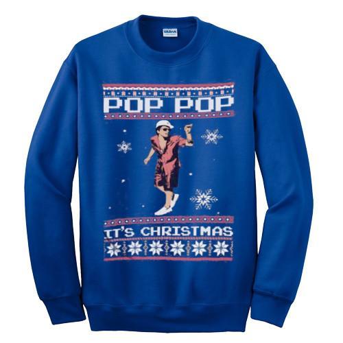 Bruno Mars Pop Pop It's Christmas Sweatshirt