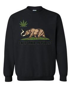 California republic weed sweatshirt