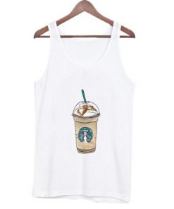 Cartoon starbucks drinks Tank top