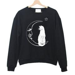 Cat And Moon Sweatshirt