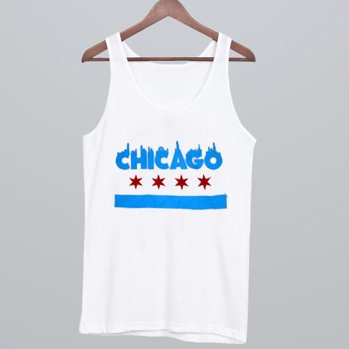 Dolan Twins Chicago Flag Tank Top