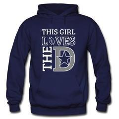 This Girl Loves The D Hoodie