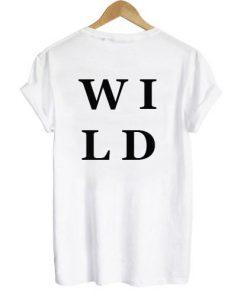 Wild T-shirt Back