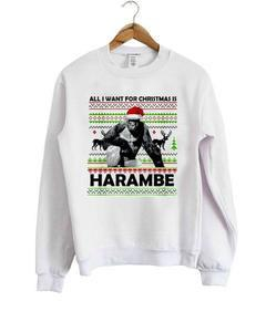 all i want for christmas is harambe sweatshirt