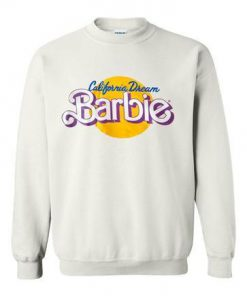 california dream barbie logo sweatshirt