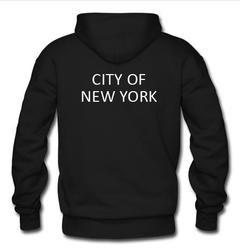 city of new york hoodie back