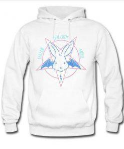 evil cutie pentagram white hoodie