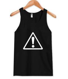 exclamation mark Tank top