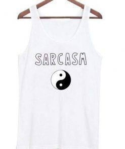 sarcasm yinyang tank top