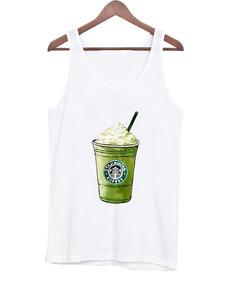 starbuck green tea cream tank top