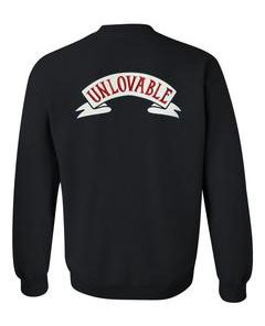 unlovable sweatshirt back