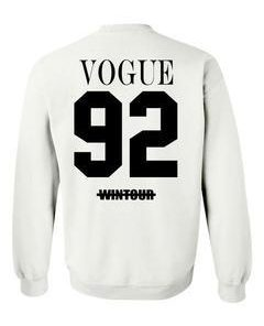 vogue 92 wintour sweatshirt back