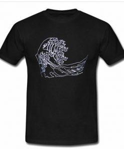 waves visual art T-shirt
