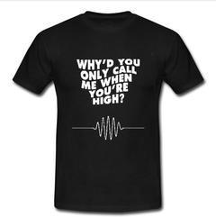 why'd you only call me when youre high T-shirt