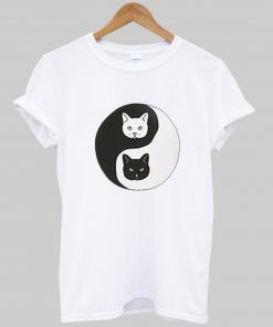 yin yang cat T-shirt