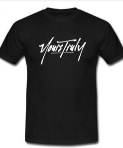 yours truly logo T-shirt