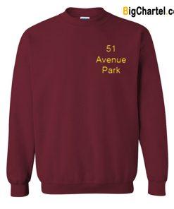 51 Avenue Park Maaroon Sweatshirt-Si