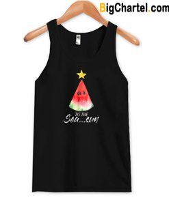 Christmas In July Tis The Sea Sun Tank Top-Si