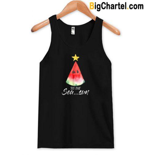 Christmas In July Tis The Sea Sun Tank Top-Si