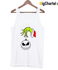 Grinch Arm Holding Jack Skellington Tank Top-Si