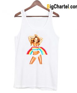 Mariah Carey POP Music Rainbow Tank Top-Si
