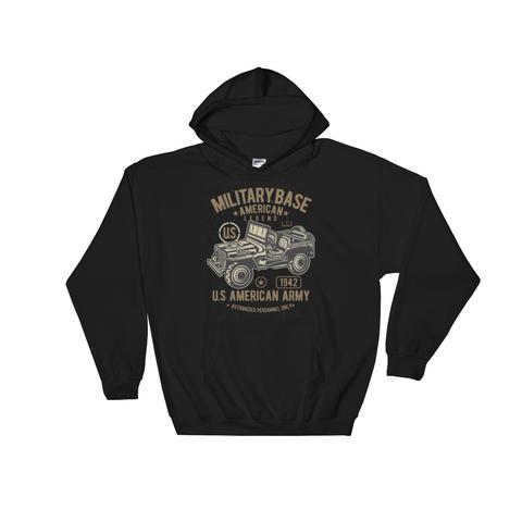 American Army Jeep Hooded Sweatshirt