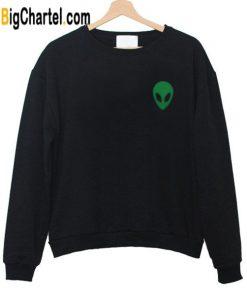 Alien Head Green Sweatshirt