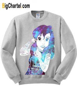 Ariel Little Mermaid Galaxy Unisex Sweatshirt