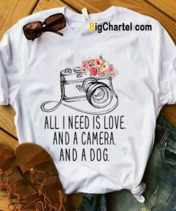 All I Need Is Love Camera T Shirt