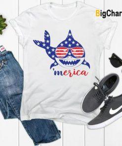 America Shark T Shirt