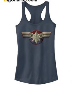 Captain Marvel Costume Logo Tank Top