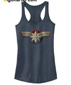 Captain Marvel Costume Logo Tank Top
