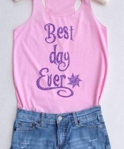 Glitter Best Day Ever Tank Top