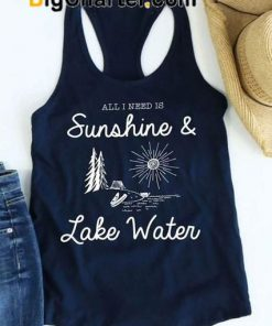 Sunshine And Lake Water Tank Top