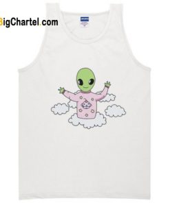 alien in sky tanktop