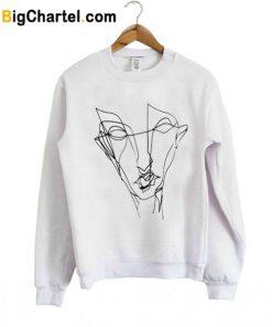Abstract Graffiti Face Trending Sweatshirt