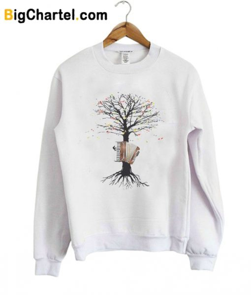 Accordion Musical Tree Sweatshirt