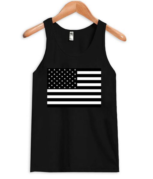 American Flag B&W Tanktop