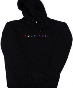 Black Emotional Hoodie